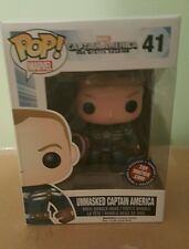 Funko Pop Marvel Exclusive Winter Soldier Unmasked Captain America Toy Matrix
