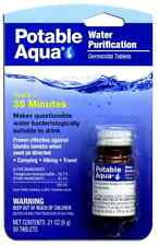 NEW Potable Aqua Water Treatment 50 Tablets Camping Hiking Purifier Travel SOS