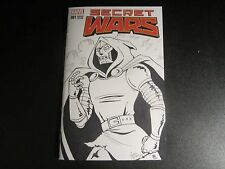 SECRET WARS #1 BLANK VARIANT REMARKED WITH DR. DOOM SKETCH BY TANIA DEL RIO !!!