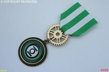 MEDAGLIA Steampunk PIN DRAPE BADGE SPILLA GREEN LANTERN BIG BANG THEORY SUPERHERO