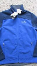 NEW MOUNTAIN HARDWEAR NANSEN JACKET MENS M SOFTSHELL BLUE OM4791-472 FREE SHIP