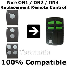 Nice on1 On2 on4 remplacement télécommande garage gate 433,92 mhz rolling code
