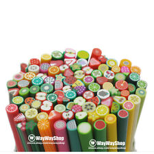 50 Cane DIY Mixed Fimo Polymer Clay Fruit Slice G