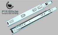 """Drawer Slide Full Extension (10""""-26"""") 45mm Ball Bearing 100 LB - (Pair)"""