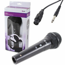 DM11 DYNAMIC MIKE MICROPHONE KARAOKE PA RECORDING DJ MIKE + 3 METRE CABLE BLACK