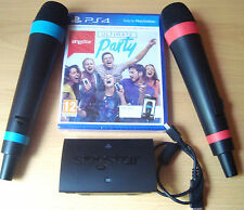 Singstar Ultimate Party Sony PS4 2 Wireless Microphones Singing Game.  Let It Go