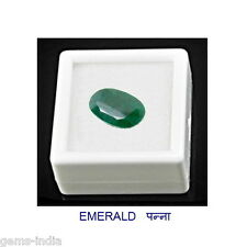 7.25 ratti Emerald (Panna) Gemstone for Good Luck Sunsign Health Wealth Growth