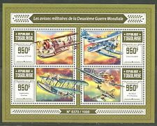 TOGO 2015 MILITARY AIRCRAFT OF WORLD WAR II  SHEET MINT NH