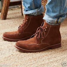 AEO American Eagle Outfitters PIONEER Mens US9D Brown Suede Red Sole Boots NWOB