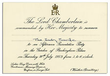 Queen Elizabeth II 1953 Buckingham Palace Invitation