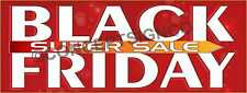 2'X5' BLACK FRIDAY SUPER SALE BANNER Outdoor Sign Retail Sales Save Thanksgiving