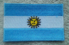 ARGENTINA FLAG PATCH Embroidered Badge Iron or Sew on 4.5cm x 6cm Argentine NEW