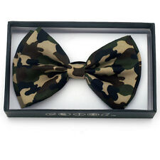 New Unisex Green Camouflage Bow Ties Bowtie Camo Hunting