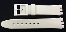 Replacement 17mm (20mm) Watch Strap for SWATCH - White Resin