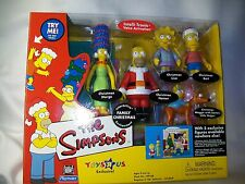 THE SIMPSONS 2001 FAMILY CHRISTMAS  5 PC EXCLUSIVE FIGURES TOYS R US MIP SEALED