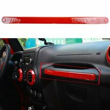 1x Red Copilot Seat Handle Trim Cover Sequins For Jeep Wrangler JK 07-16