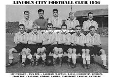 LINCOLN CITY F.C.TEAM PRINT 1956 (NEAL/MUNROE/GIBSON)