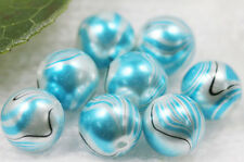 10/20/50Pcs Stylish Lampwork Glass 6 Colors Loose Spacer Vein Round Beads 12MM