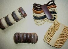 REDUCED! African Ethnic Fairtrade Craft Jewellery - Wood Bead Stretch Bracelet