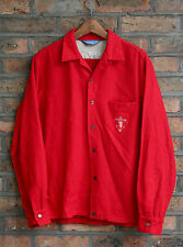VTG 50s CAL-MADE SPORTSMAN RED WOOL LOOP COLLAR SHIRT USA ROCKABILLY MEDIUM