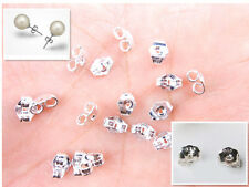 20PCS Wholesale 925 Sterling Silver BACK STOPPERS Earrings Jewelry Findings