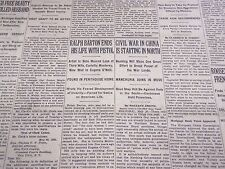 1931 MAY 21 NEW YORK TIMES - RALPH BARTON ENDS LIFE WITH PISTOL - NT 2442