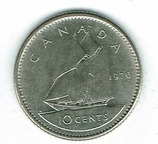1970 Canadian Brilliant Uncirculated Business Strike 10 Cent Coin!