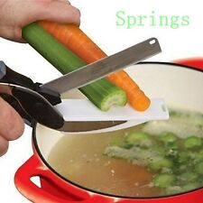 Multifunctional Knife Smart Cutter 2-in-1 Cutting Board Scissors As Seen On Tv