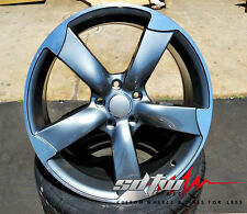 """18"""" Wheels 5 Arm Rotor Style Gunmetal Fits Audi  A4 A5 A6 S4 S5 S6 S Rims 5X112"""