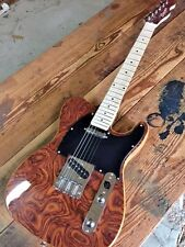PROJECT Burl Maple Solid Body Tele Style 6 String Electric Guitar Needs Work #1