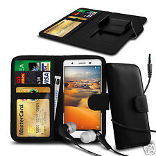 For Apple iPhone 3GS - Clip On PU Leather Wallet Case & Earphone