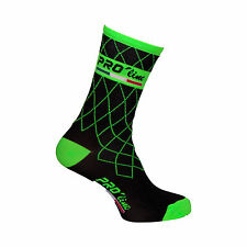 CALZINI CICLISMO PROLINE TEAM VERDE FLUO CYCLING SOCKS 1 PAIO ONE SIZE NEW LINE
