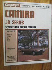 GREGORY'S HOLDEN CAMIRA SERVICE & REPAIR MANUAL JB SERIES 1982/83 SLX SLE SL