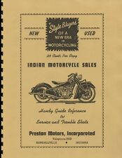 """Indian Motorcycle  Riders """"Reference Guide"""" ~ WWII Era Manual ~ Reprnt"""