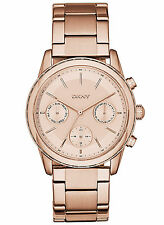 NEW DKNY NY2331 Rockaway Women's Rose Gold Stainless Steel Watch