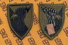 US ARMY 38th Artillery Brigade OD Green & Black uniform patch