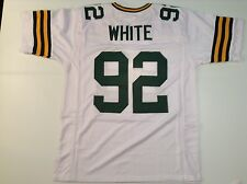 Green Bay Packers Reggie White UNSIGNED CUSTOM White Jersey - XL