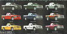 2004 Chevy COLORADO PickUp Truck Brochure/Catalog with Color Chart: Z71, 4x4,