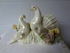 vintage Royal Fleet of California retro T.V. lamp.  doves.  working conditions