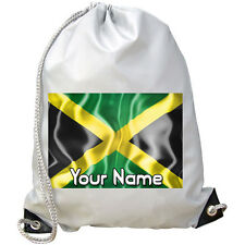 JAMAICA'S JAMAICAN FLAG PERSONALISED GYM / PE /DANCE / SWIMMING BAG *NAMED GIFT*