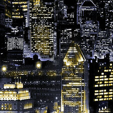 Fat quarter new york nyc nuit skyline de paysages urbains 100% coton quilting tissu