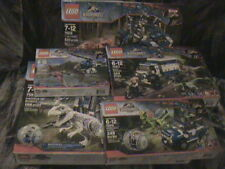 JURASSIC WORLD LEGO LOT SEALED SET OF 5 75919 INDOMINUS REX BREAKOUT T DINOSAUR