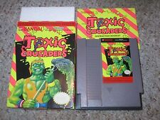 Toxic Crusaders (Nintendo Entertainment System NES, 1992) Complete in Box GOOD