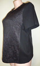 Belle Curve size 16 lovely black beaded top NWT New short sleeve