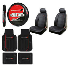 New 9Pc Dodge Elite  Rubber Floormats Seat Covers and Steering Wheel Cover Set