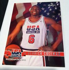DERRICK COLEMAN 1994 Skybox USA International PROMO No# Back SSP Scarce EBAY 1/1