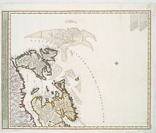 Embracing North America Nova Tabula Geographica Map 1690 9x8 Inch Reprint