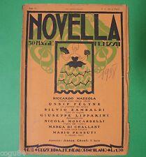 Novella - Numero 10 - Edizione Mondadori 1922