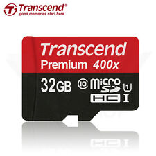 Transcend 32GB MicroSDHC Class 10 UHS-1 U1 Memory Card R 60MB/s with adapter