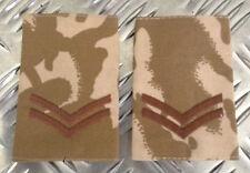 Originale Esercito Inglese Mimetico Deserto CAPORALE Mostrine  Di Rango/Spalline